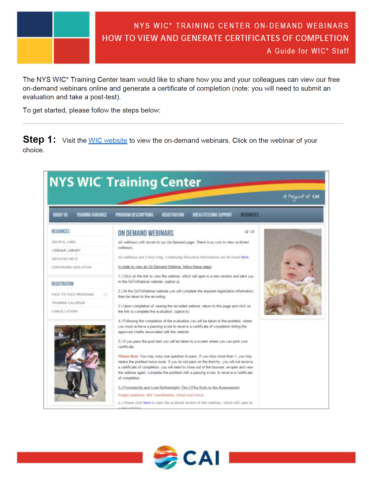 WIC ondemandwebinar instructions guide icon