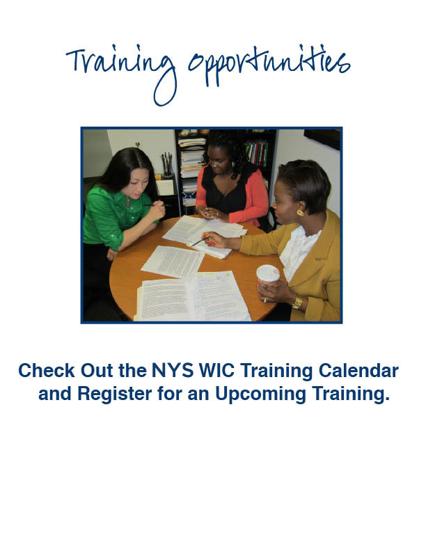 WIC Training Opportunities